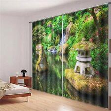 Amazing Japanese Garden 3D Blockout Photo Printing Curtains Draps Fabric Window