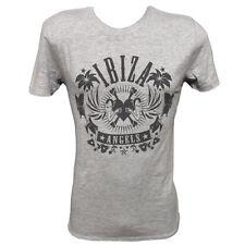Officiel Ibiza Angels T-Shirt Homme Logo Classique Gris Vintage Heather RRP £ 60
