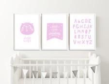 Girls Rosa Nursery stampe/Baby Room Decor/foto per camera da letto per bambini