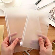 A5/A6 Size Plastic Zip Lock Envelope Zipper Wallet Insert Refill Organise Folder