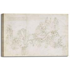 Botticelli divina commedia Dante 3 quadro stampa tela dipinto telaio arredo casa