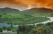 DAWN OVER EMERALD ISLE IRELAND IRISH GREEN CONTRYSIDE LANDSCAPE REPRO POSTER