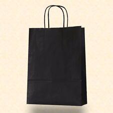 Papiertragetaschen ab 50 Stk Kordel schwarz 22+10x31 cm Papiertüten Papiertasche
