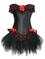 Negros evalué + tul falda con bucles de color rojo punta + (121) Corsage Moulin Rouge