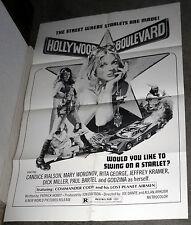 HOLLYWOOD BOULEVARD poster CANDICE RIALSON/DICK MILLER/JOE DANTE orig one sheet