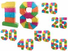 Pentolaccia Pignatta Multicolore A Forma di Numeri per Festa di Compleanno