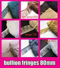 Fringe Tassel Looped Trim Bullion Fringing DRESS FRINGING 80 mm Tassels dance