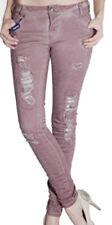 NEU BLUE MONKEY Jeans HONEY 8004 Purple Skinny Destroyed W 25 26 27 28 29 L32