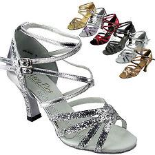 Womens Ballroom Salsa Latin Tango Dance Shoes 5008Mirage Very Fine 2.5 /3