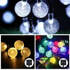 50 LED Solar Powered Garden Party Fairy String Crystal Ball Lights Xmas Ace
