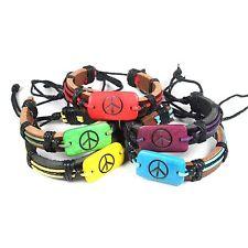 Peace & Love Friendship Wrist Bracelet Hippie Peace Sign Love Flexable 1sz fit