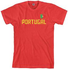 Threadrock Men's Portugal National Team T-shirt Portuguese Flag