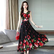 Womens Summer Floral Print Party Evening Long Dress Beach Dresses Sundress NEW