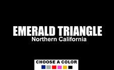 EMERALD TRIANGLE Northern California Decal Sticker Trinity Humboldt Mendocino