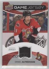 2012 Upper Deck Game Jersey #GJ-DA Daniel Alfredsson Ottawa Senators Hockey Card