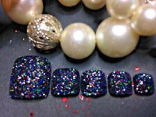 Mano pintada brillo falso dedos X 12/24 Varios Colores Halloween