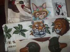 APPLIQUE cut sew PANEL Kids Cotton QUILT Fabric U-PICK see listing for details