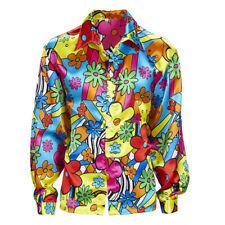 70er Jahre Buntes Blumenhemd, Herren Hippiehemd Flower Power ,Hemd 60er Kleidung
