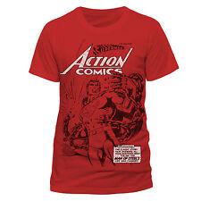 CATENE di rottura SUPERMAN ACTION COMICS Retrò Ufficiale DC Cotone T-shirt CLASSIC