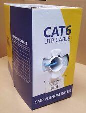 Plenum Cat6 1000ft Cable UTP Ethernet Cat 6 1000 ft Blue, White