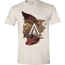 UFFICIALE ASSASSIN'S CREED: Odyssey Alessio lato Logo T-SHIRT COLOR CREMA (NUOVO)