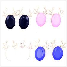 Festive nero, bianco, rosa, azzurro Renna Cervo Orecchini, Scelte multiple