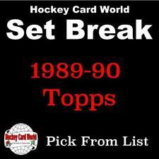 (HCW) 1989-90 Topps NHL Hockey Cards Mint Set Break 1-198 - You Pick