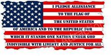 American Flag Pledge of Allegiance Vinyl Decal Sticker USA patriotic united