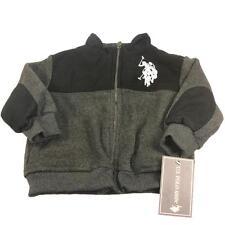 New Toddler Boy's U.S. Polo Association Fleece Jacket 2T 3T 4T Months Gray/Black