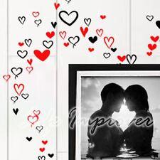 Jusqu'à 90 stickers muraux décoratifs coeurs fait main art graphique décoration