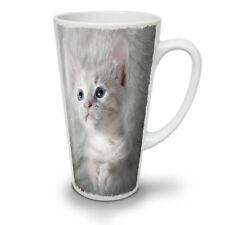 Adorable Divertido Gato Gatito Cool Nuevo Blanco Té Café Taza de café con leche 12 17 Oz | wellcoda