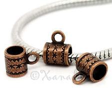 Copper European Large Hole Bail Wholesale Beads For Bracelets - 10, 20 Or 50PCs