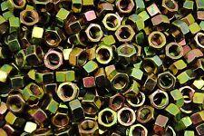 (450) 3/8-24 Grade 8 Hex Finish Nuts - Yellow Zinc - Fine