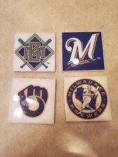 Milwaukee Brewers 4x4 Ceramic Coasters Handmade