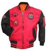 Top Gun® Kids Color Block MA-1 Bomber Red-Black 100% authentic