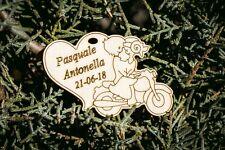 cuori incisione nomi data sposi moto matrimonio segnaposto bomboniera legno