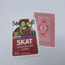25 Skat Kartenspiele edle Leinen Qualität Französisches Bild, Spielkarten Frobis