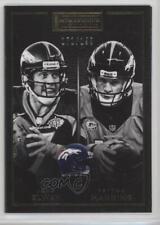 2015 Panini Playbook Gold #50 John Elway Peyton Manning Denver Broncos Card