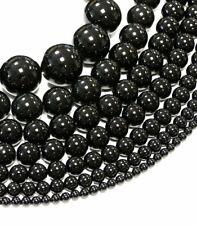 Onyx Perle Kugel glanz schwarz A-Grade 2-20 mm, 1 Strang #4616 BACATUS Edelstein