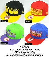 NEW ERA DC/MARVEL COMIC HERO FADE 9FIFTY SNAPBACK CAP - ASSORTED