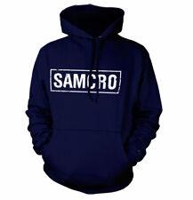 Licenza ufficiale Sons of Anarchy Samcro effetto invecchiato Felpa con Cappuccio Taglie S-XXL