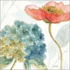 Lisa Audit: Rainbow Seeds Flowers IV  Keilrahmen-Bild Leinwand Blumen Aquarell