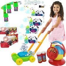 Kids Niños Bubble Machine Gun Soplador solución Fiesta De Cumpleaños Burbujas Juguete