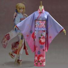 Fate Grand Order Stay Night Saber Kimono Yukata Cosplay Costume Anime Japan
