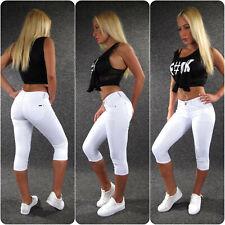 Push Up Capri Jeans XS S M L XL ZAZOU 7/8 Damen Shorts Sommer Skinny Hose 2028w
