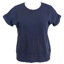 GreenTea Enzyme Wash Women Short Sleeve Top, Navy / Black, Sm/Med/XL, NWT