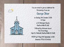 10 Personalised Christening Invitations ~ Baptism ~ Church Design