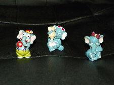 3 Vintage KINDER EGG Toys Surprise ELEPHANTS Circus Cake Topper