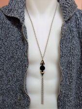 Collier à flèches pendentif homme cristal Swarovski, chaine en acier chirurgical