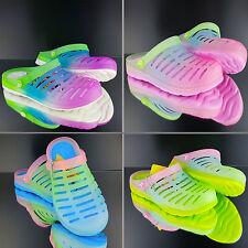 Damen Herren Clogs Saunaschuhe Badeschuhe Gartenschuhe Anti-Rutsch Neon Farbe